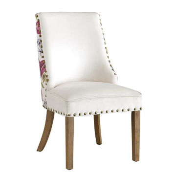 Picture of Floral Backed Upholstered Accent Dining Chair