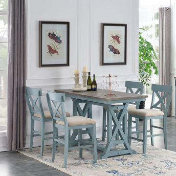 Picture of Bar Harbor Two-Tone 5 Piece Counter Height Dining Set