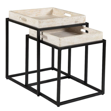 Picture of White Tray Top Nesting Tables