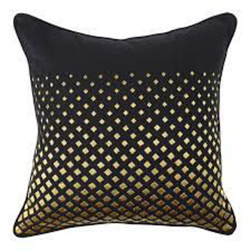 Picture of Dotta Black and Gold 22 x 22 Accent Pillow