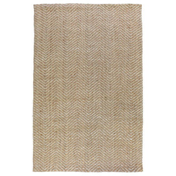 Picture of Herringbone Natural/Ivory 9' x 12' Area Rug