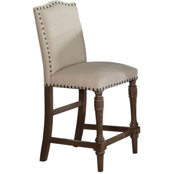 Picture of Xcalibur Upholstered Limed Gray Barstool
