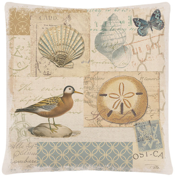 "Picture of Shorebirds 18"" x 18"" Accent Pillow"