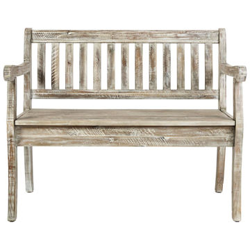 Picture of Artisan's Craft Washed Gray Storage Bench