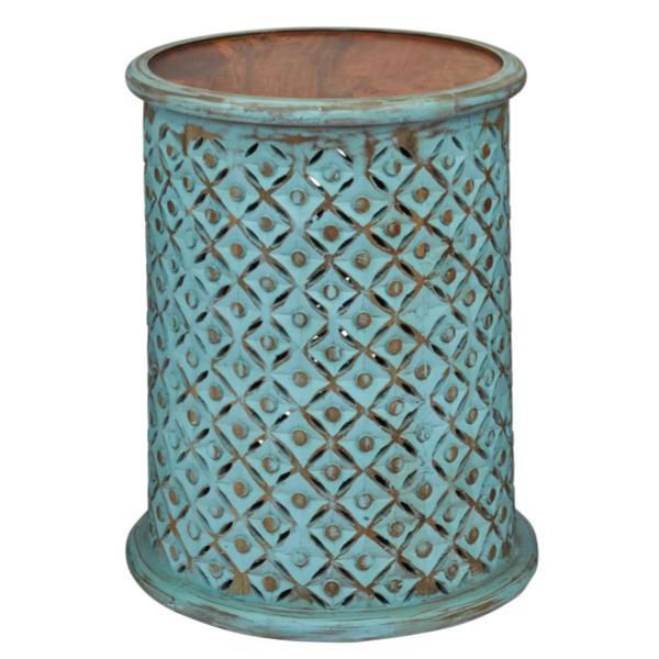 Picture of Global Archive Teal Side Table