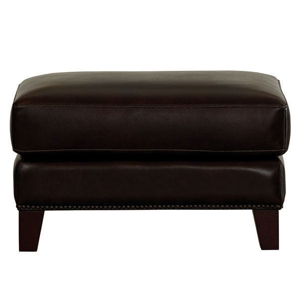 Picture of Pierce Hickory Leather Ottoman