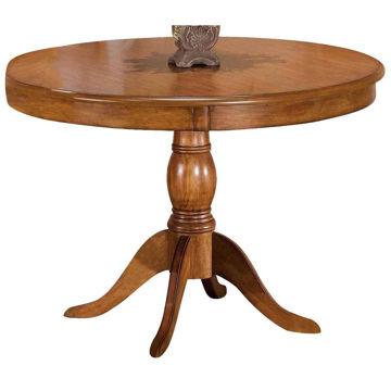 "Picture of Bayberry 44"" Round Oak Pedestal Dining Table"
