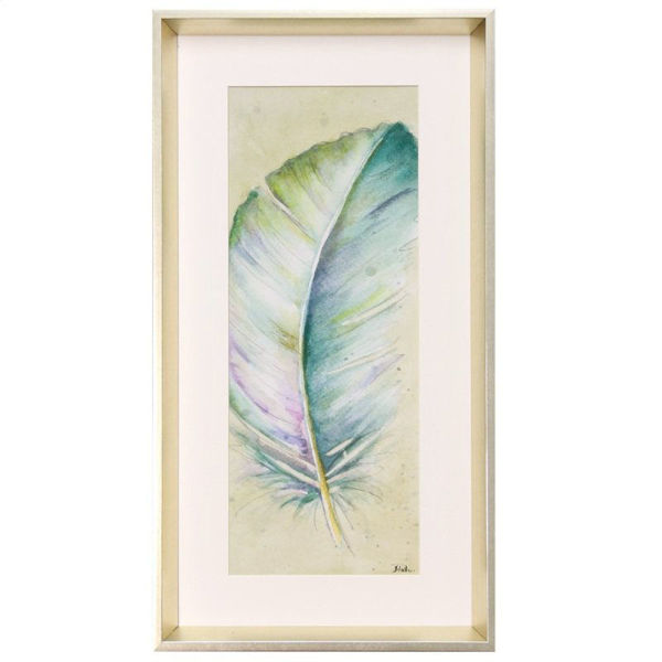 Picture of Blue Feather Framed Art