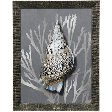Picture of Shell I Textured Framed Print