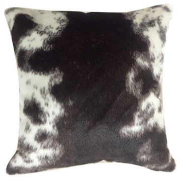 Picture of Faux Hair on Hide  Brown Pillow