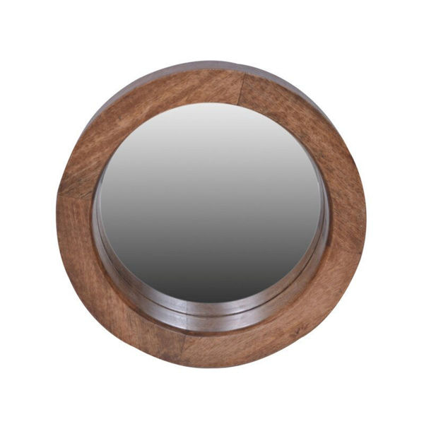 Picture of Slim Round Large Wood Mirror