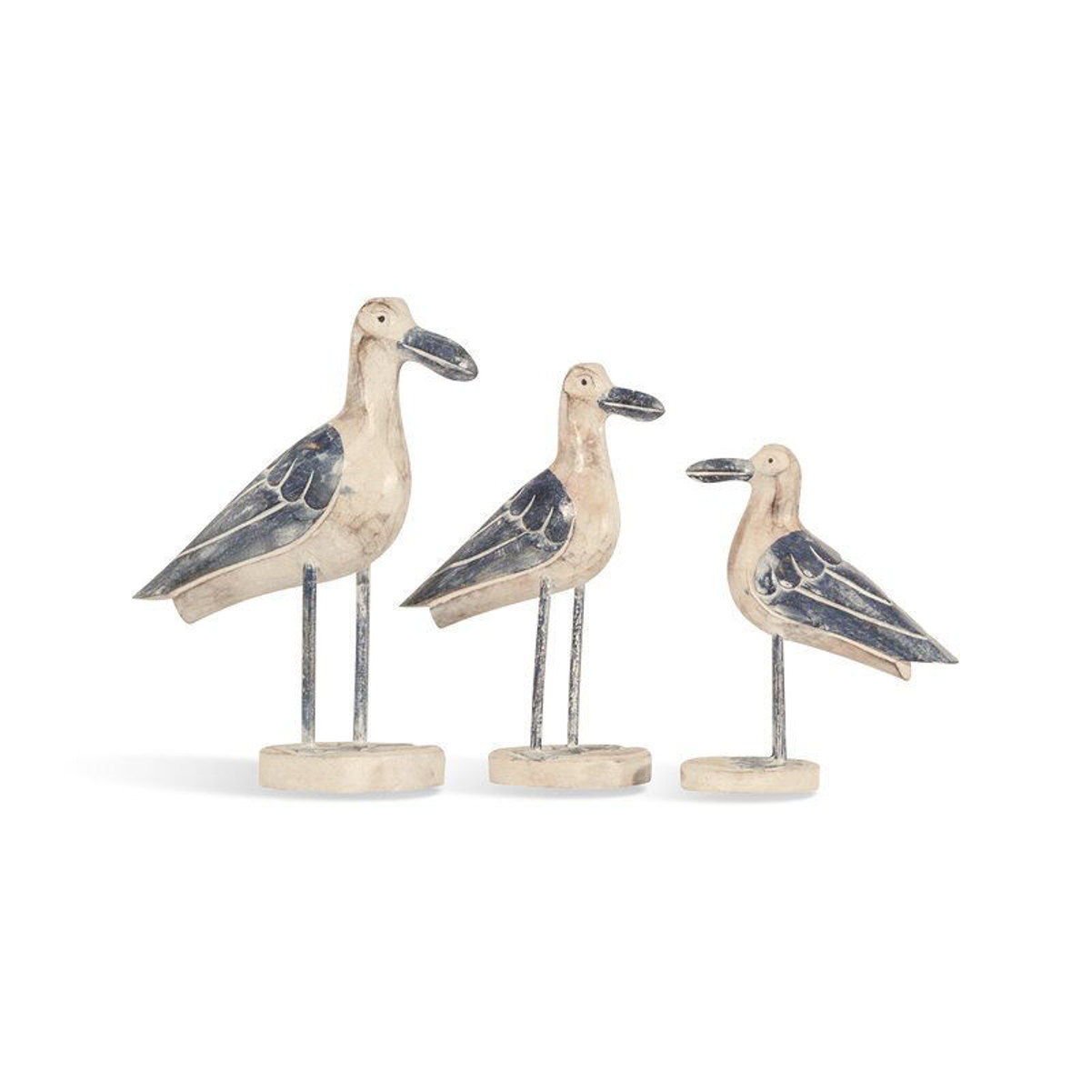 Picture of Wood Seagull Sculpture Set