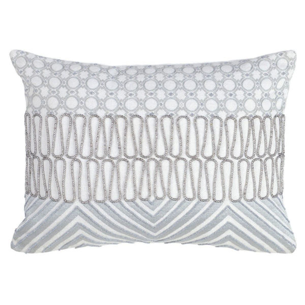 Picture of Zaro White and Pearl 12x16 Accent Pillow