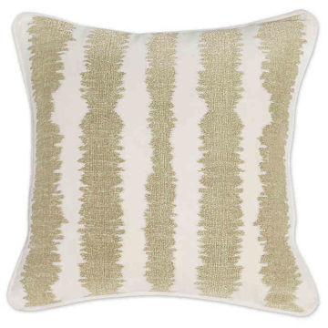 Picture of JB Revel Square Ivory and Gold Throw Pillow