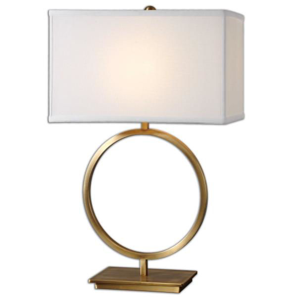 Picture of Gold Finish Circle T-Lamp