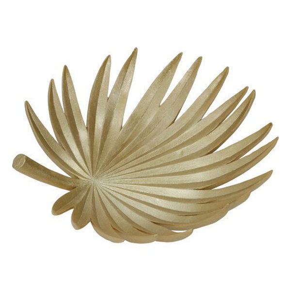 """Picture of 16"""" Gold Palm Leaf Plate"""