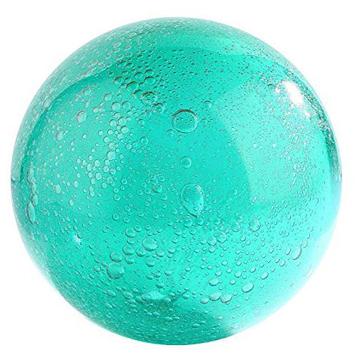 """Picture of Turquoise Glass 4"""" Sphere"""