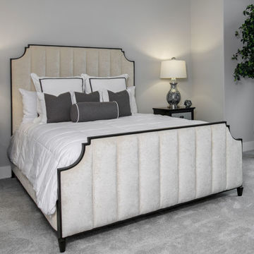 Picture of SPENCER QUEEN BED W/FABRIC SIDES