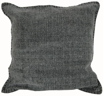 "Picture of Charcoal Gray 20"" Square Accent Pillow"