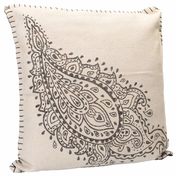 "Picture of Paisley Charcoal Gray 20"" Square Outdoor Pillow"
