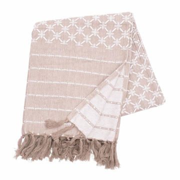 Picture of Markle Clay Woven Cotton Fringed Throw