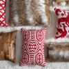Picture of Clifton Down and Feather Filled Red Throw Pillow