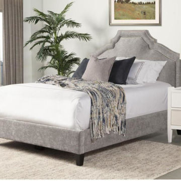 Picture of CASEY KING UPHOLSTERED SHIMMER BED