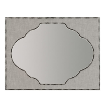 Picture of NOURMAND LINEN WRAPPED MIRROR