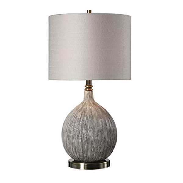 Picture of HEDERA TEXTURED GRAY T-LAMP