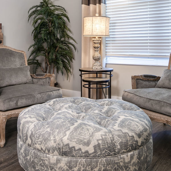 Picture of CUSTOM LARGE RND OTTOMAN
