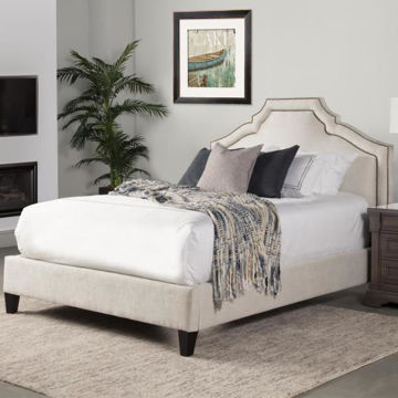 Picture of CASEY UPHOLSTERED LACE BED