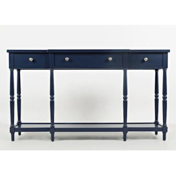 """Picture of STATELY 60"""" CONSOLE NAVY"""