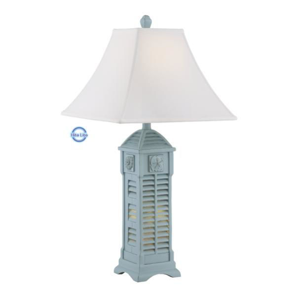 Picture of LIGHTHOUSE NLCOTTAGE WH T-LAMP