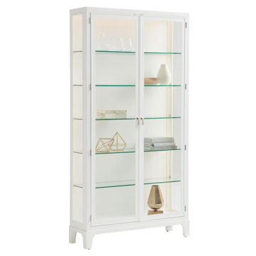 Picture of LAKESHORE CURIO WITH ALABASTER BACK PANEL