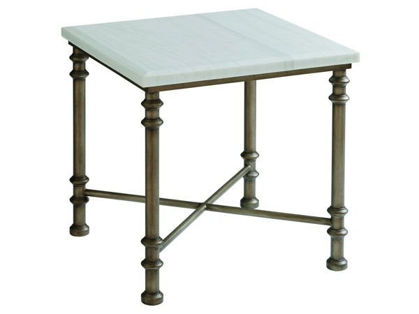 Picture of FLAGLER SQUARE  MARBLE TOP END TABLE