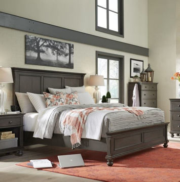 Picture of Oxford Peppercorn Panel Bed