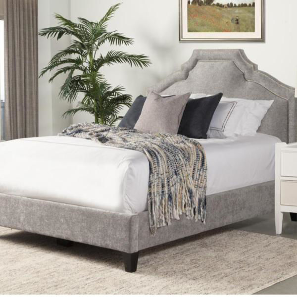 Picture of CASEY UPHOLSTERED SHIMMER BED