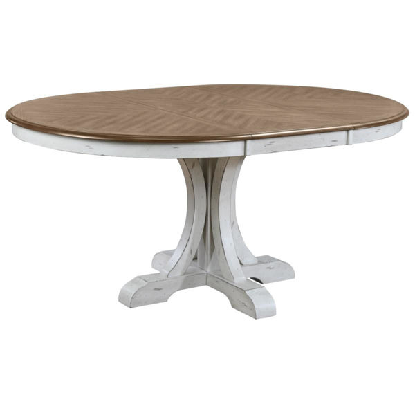 """Picture of HIGHLINE 66"""" PEDESTAL TABLE"""