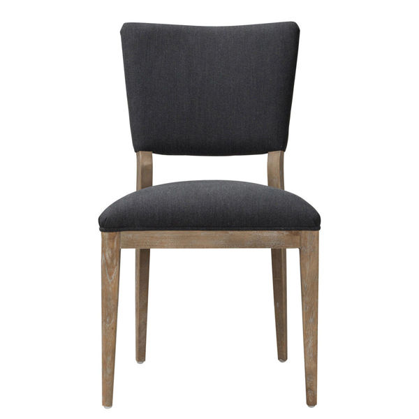 Picture of PHILLIP UPH DINING CHAIR GRAY