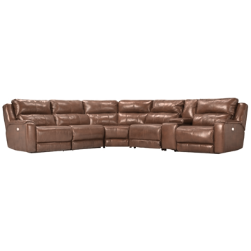 Picture of Dazzle 6 Piece Power Leather Sectional Sofa with Power Headrest