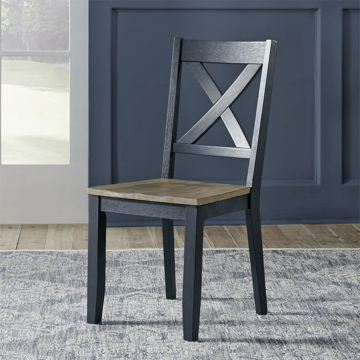 Picture of DEEP SEA NAVY X BACK SIDE CHAIR