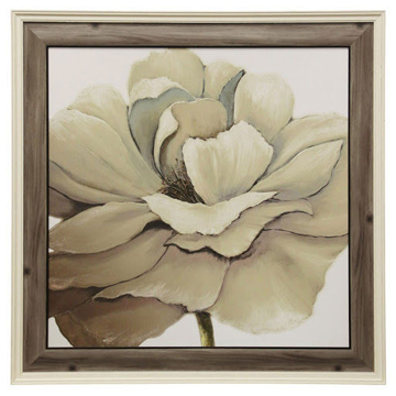 Picture of TEXTURED CREAM FLORAL I