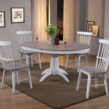 """Picture of BRANTLEY 66"""" ROUND 5PC DINING SET"""