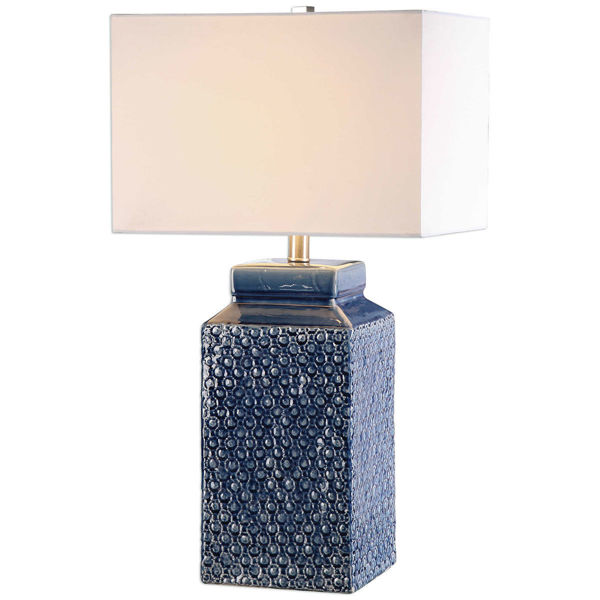 Picture of PERO BLUE GLASS LAMP