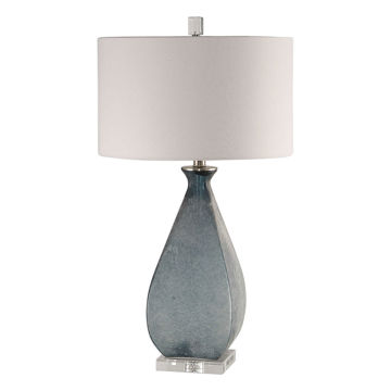 Picture of SMOKEY BLUE FROSTED T-LAMP