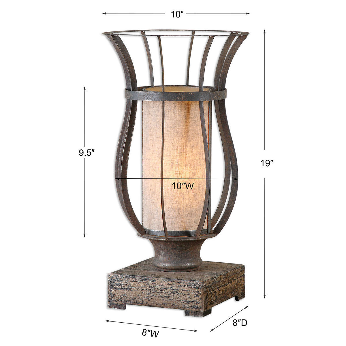 Picture of METAL FRAME UPLIGHT-T-LAMP