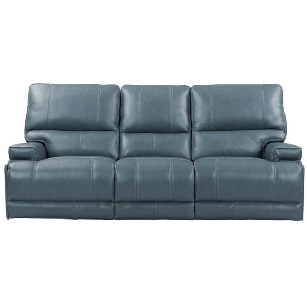 Picture of WHISTLER CORDLESS SOFA W/ POWER HEADREST IN AZURE