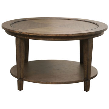 Picture of LEWISTON ROUND COFFEE TABLE W/ WOOD