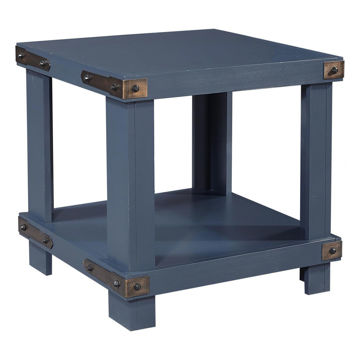 Picture of SAWYER NAVY END TABLE