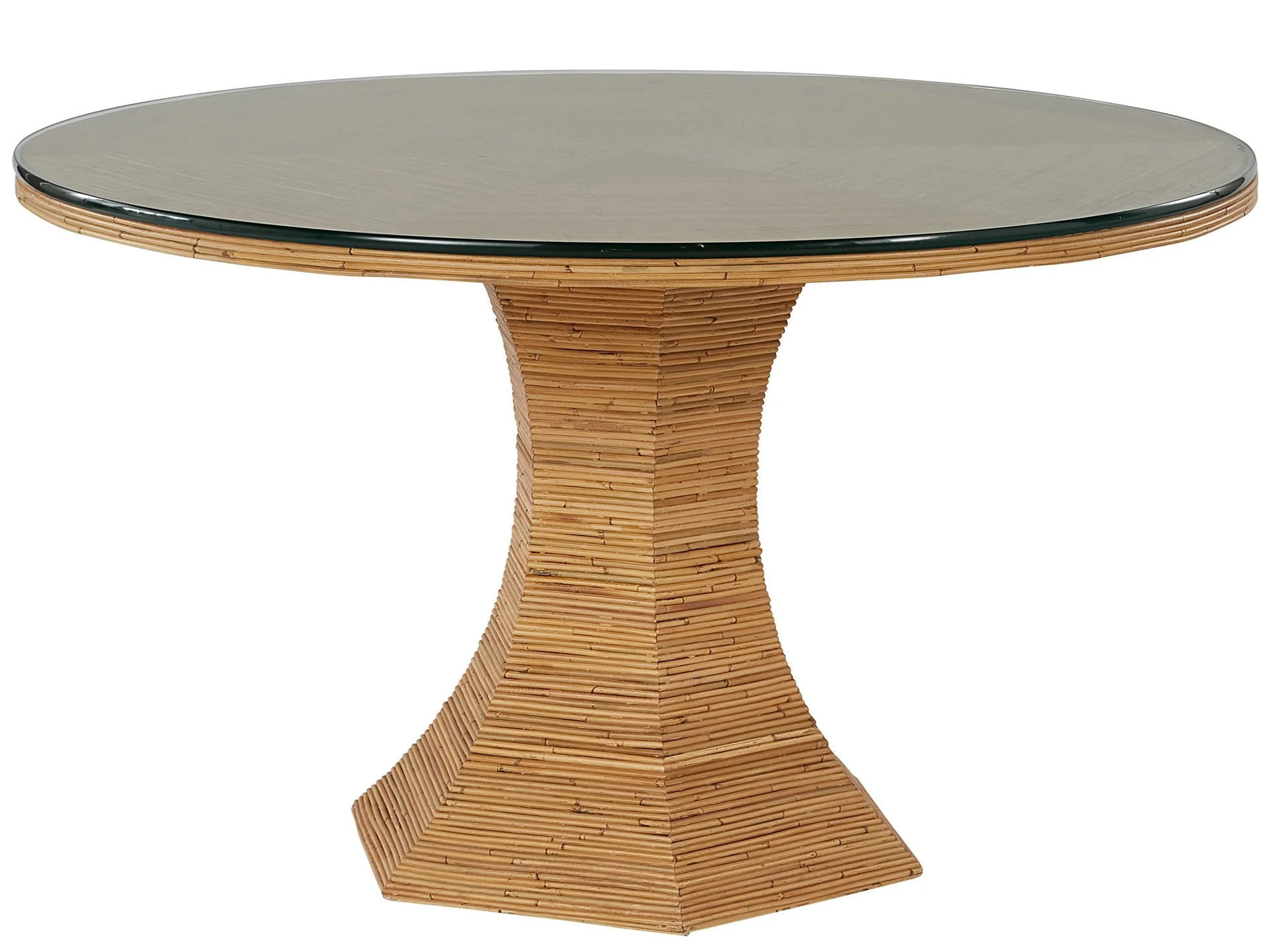 """Picture of NANTUCKET 54"""" ROUND GLASS TABLE"""